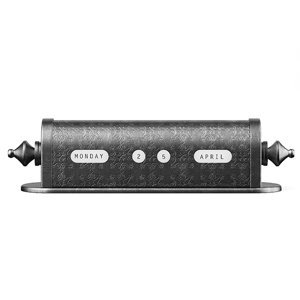 Mechanical Calendar - 3DOcean Item for Sale
