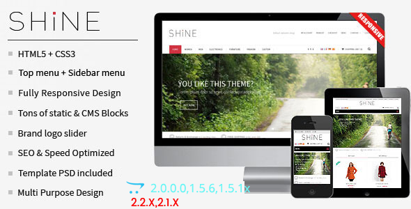 Shine - Responsive Multipurpose OpenCart  Theme  - Shopping OpenCart