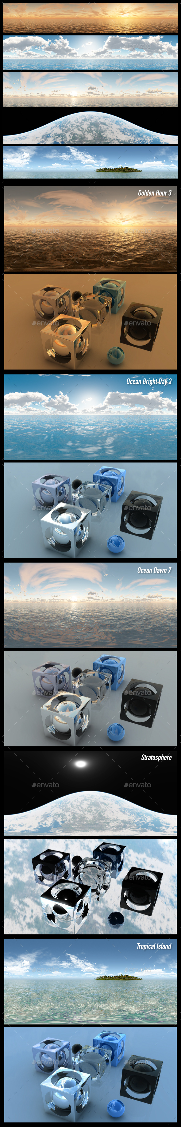 HDRI Pack 8 - 3DOcean Item for Sale
