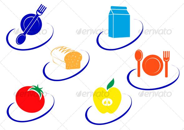 Food symbols - Decorative Vectors