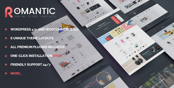 VG Romantic – Responsive Multipurpose WooCommerce Theme