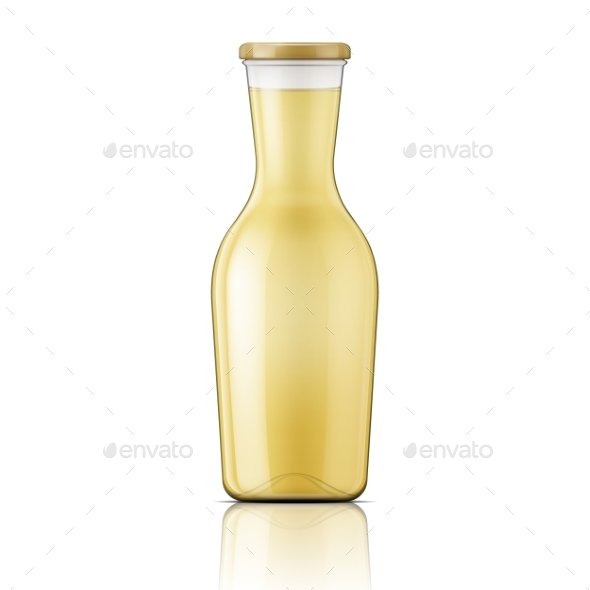 Glass Bottle with Wide Neck - Man-made Objects Objects