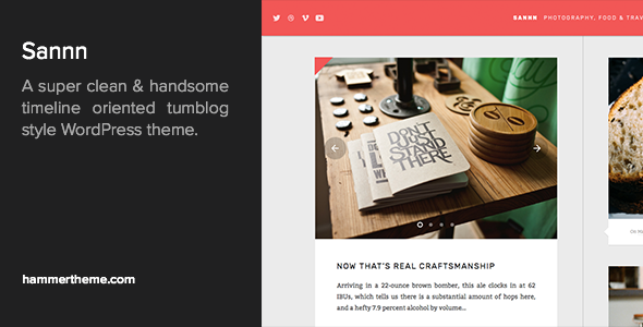 Sannn - Timeline Oriented Tumblog WordPress Theme