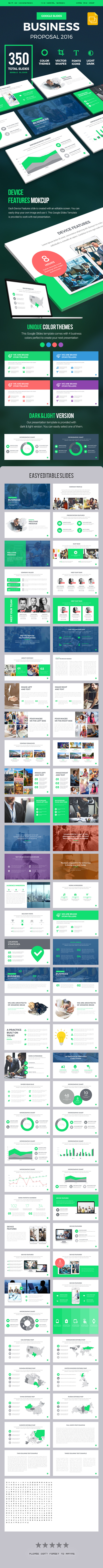 Business Proposal 2016 Google Slides Presentation Template - Google Slides Presentation Templates