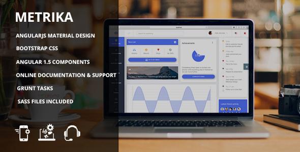 Metrika – Bootstrap Material admin dashboard