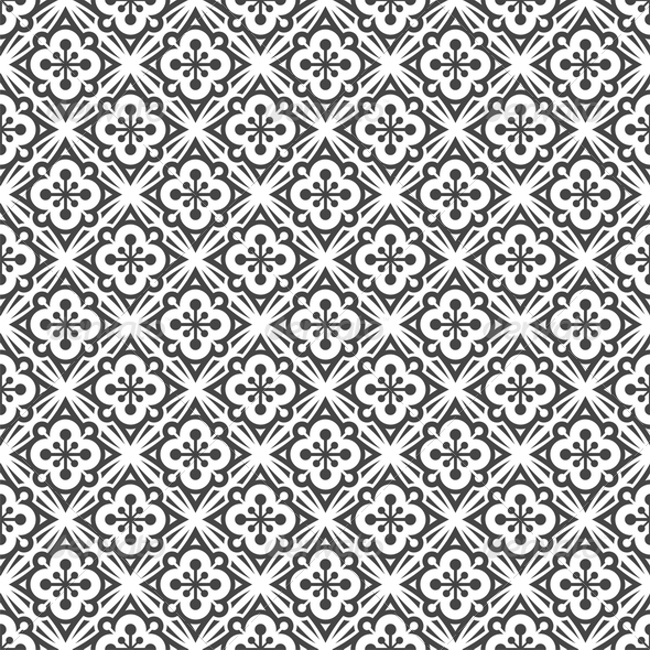 Seamless Black & White Pattern - Patterns Decorative