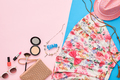 Fashion summer clothes accessories. Date outfit