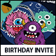 Monsters Themed Birthday Invitation - GraphicRiver Item for Sale