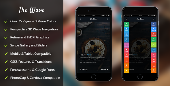 Wave Mobile | Mobile Template - Mobile Site Templates