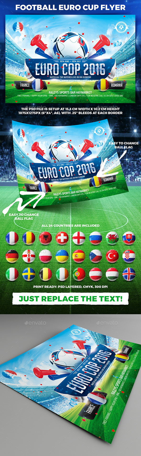 Football Euro Cup Flyer vol.1 - Sports Events