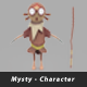 Mysty Lowpolygon Character - 3DOcean Item for Sale