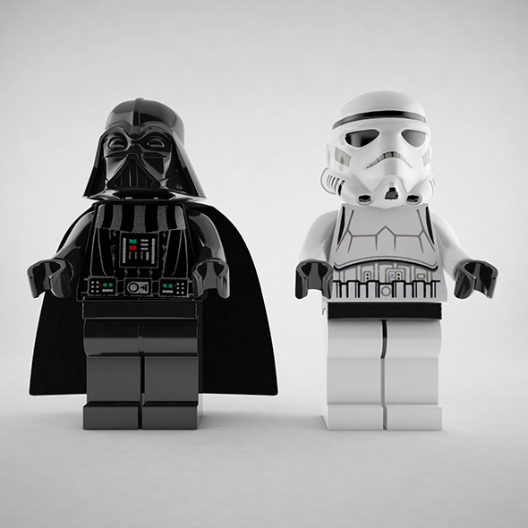 Darth Vader and Stormtrooper Lego - 3DOcean Item for Sale