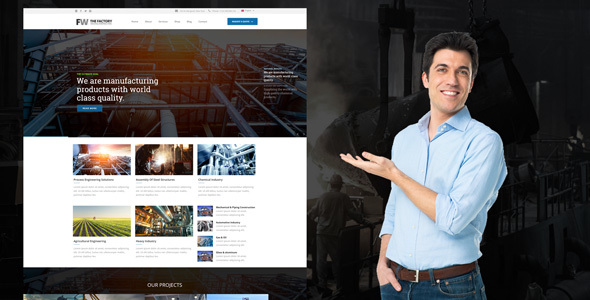 Manufacturing - Factory & Industrial Business WordPress Theme - Business Corporate