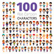 Casually Dressed Flat Characters Collection - GraphicRiver Item for Sale