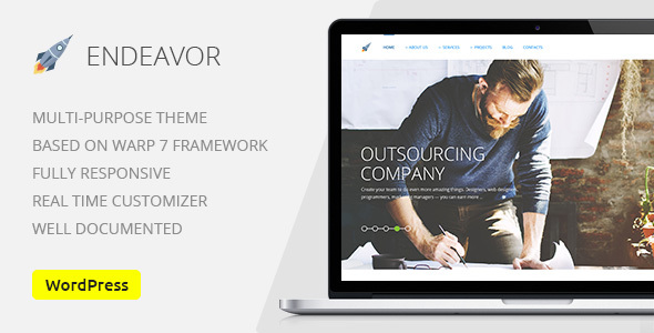 Endeavor — Multipurpose IT | Digital Company WordPress Theme