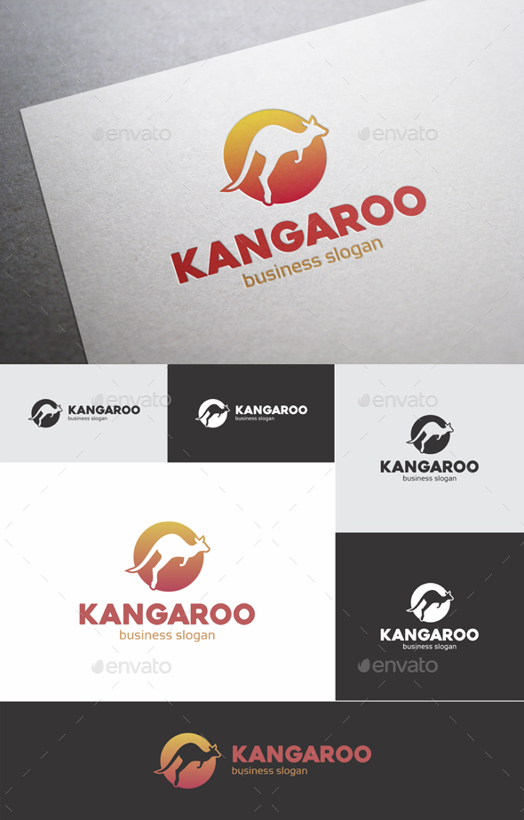 Kangaroo Sport Logo - Animals Logo Templates