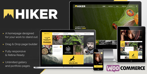 Hiker - WordPress Photography Theme - Photography Creative