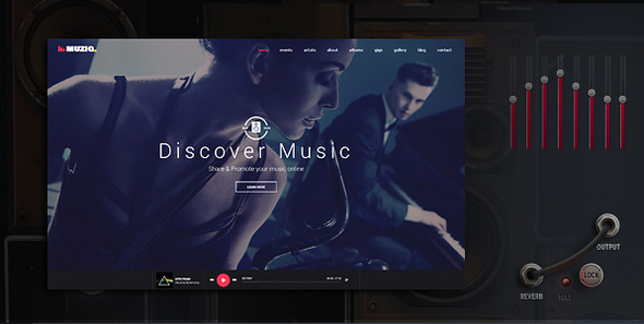 Muziq - Music Band & Musician WordPress Theme