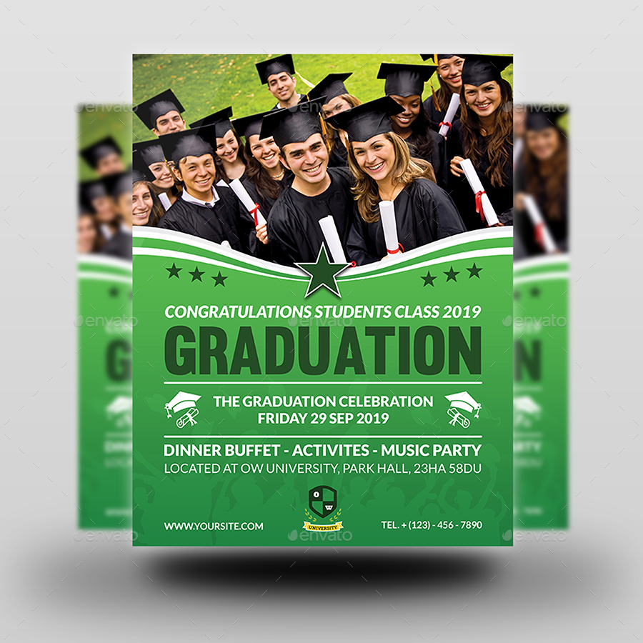graduation flyer template by owpictures