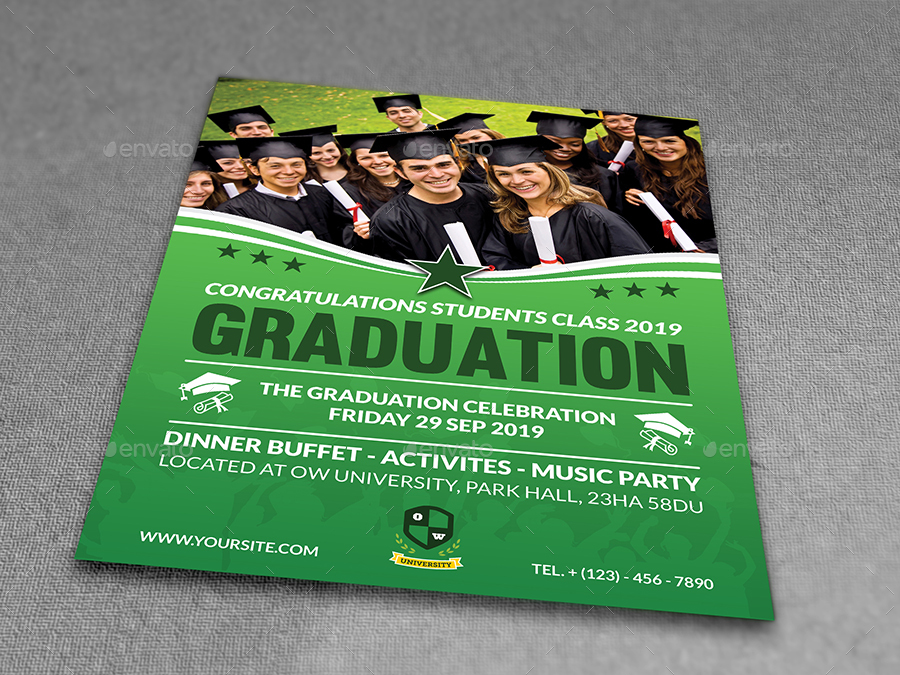 Graduation Flyer Template By Owpictures  Graphicriver