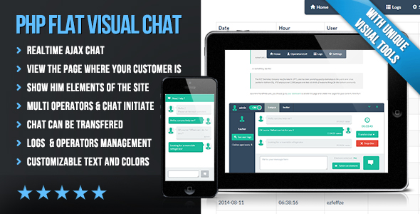 PHP Flat Visual Chat - CodeCanyon Item for Sale
