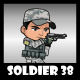 Soldier Character 38 - GraphicRiver Item for Sale
