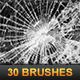 30 Glass Shatter Brushes - GraphicRiver Item for Sale