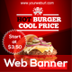 Fast Food Web Banner - GraphicRiver Item for Sale