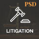 Litigation - Law Firm PSD Template - ThemeForest Item for Sale