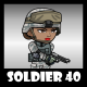 Soldier Character 40 - GraphicRiver Item for Sale