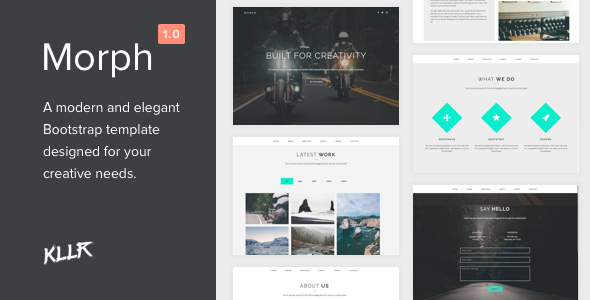 Morph – Single Page Bootstrap Template