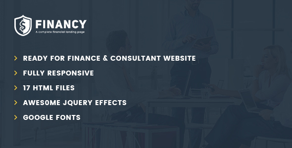 Financy – Consulting Business, Finance HTML5 Template