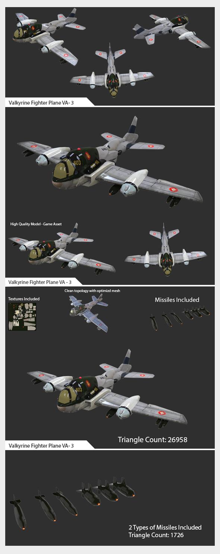 Game Ready Asset Valkyrine Flighter Pane VA-03