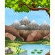 Scene with Mountains and River - GraphicRiver Item for Sale