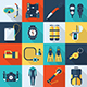 Scuba Diving and Snorkeling Icon Set - GraphicRiver Item for Sale