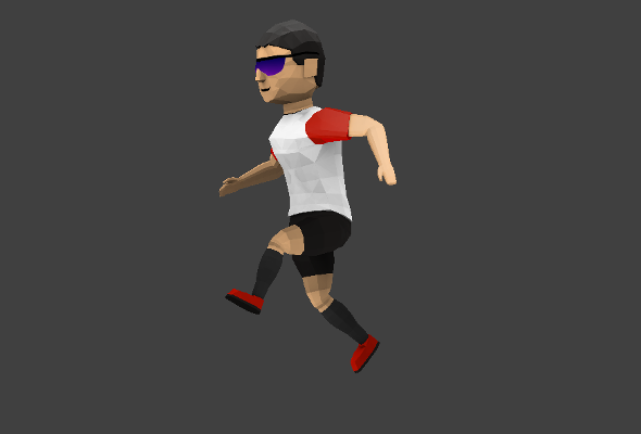 Low poly runner character including UV map and rig - 3DOcean Item for Sale