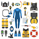 Scuba Diving and Snorkeling Gear Set - GraphicRiver Item for Sale