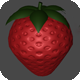 Low Poly Strawberry For Games
