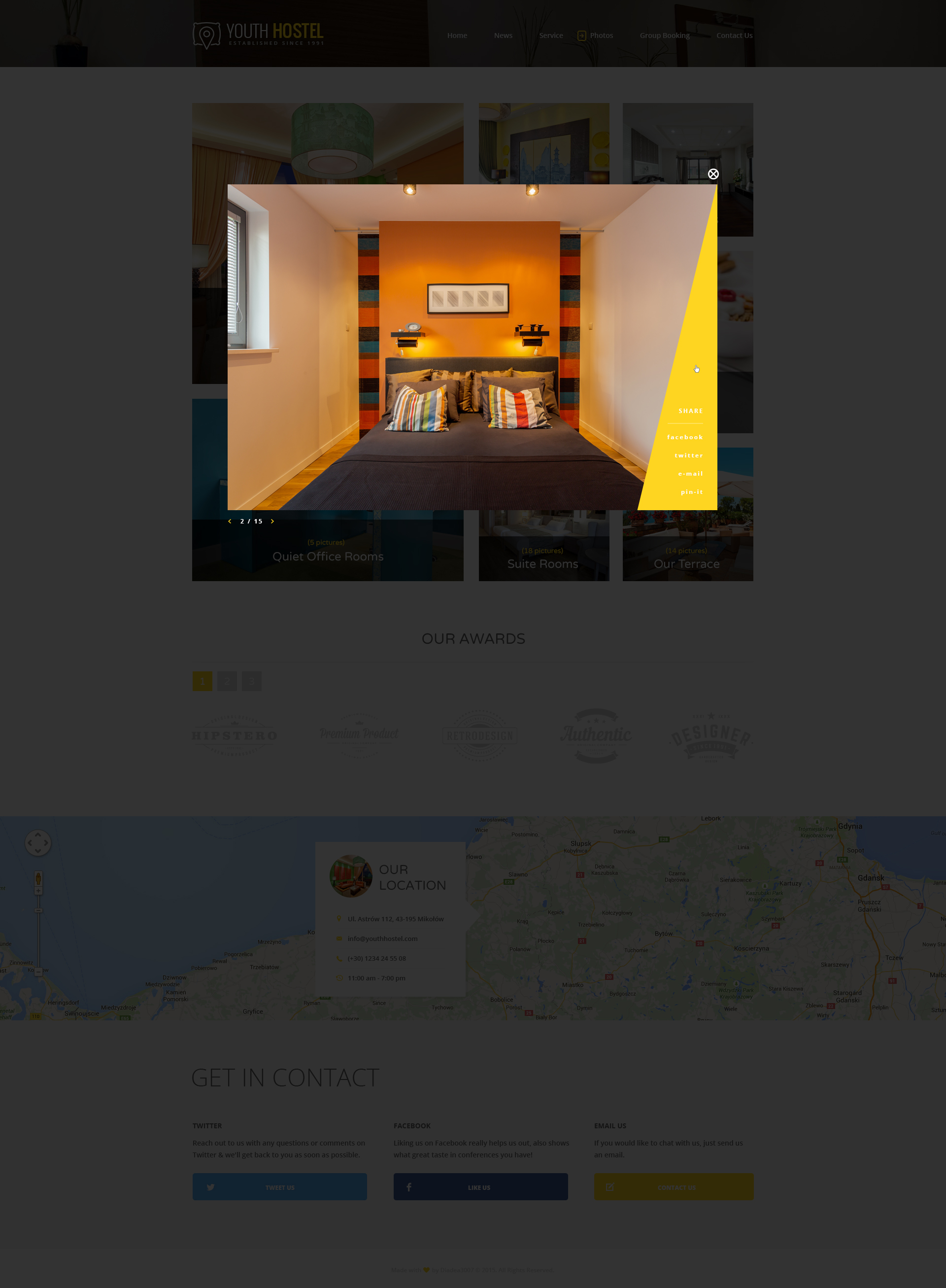 Youth Hostel - Travel & Hotel HTML Template by ThemesOverflow ...