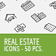 50 Real Estate Business Icons - GraphicRiver Item for Sale