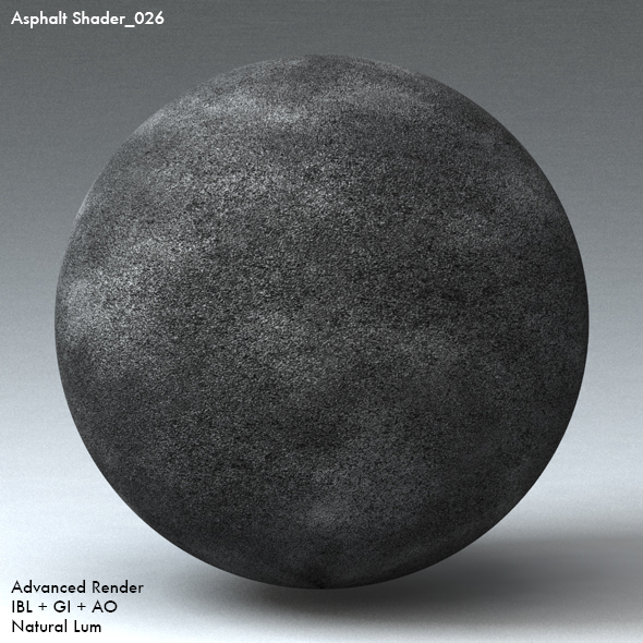 Asphalt Shader_026 - 3DOcean Item for Sale