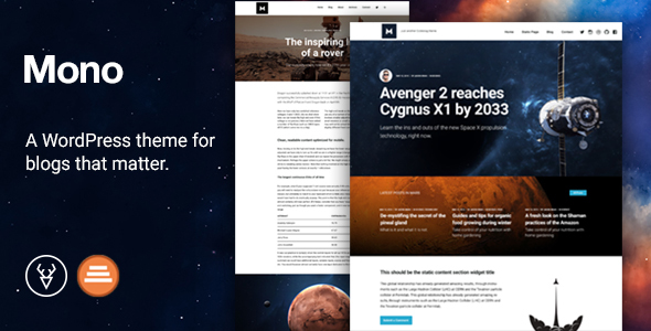 Mono – A Modular Blogging Theme for WordPress