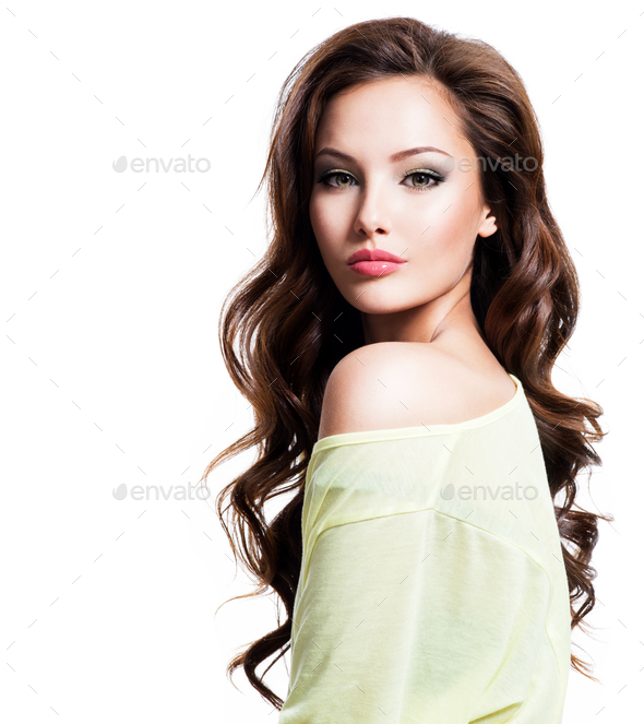 Sensuality beautiful woman with long hair - Stock Photo - Images