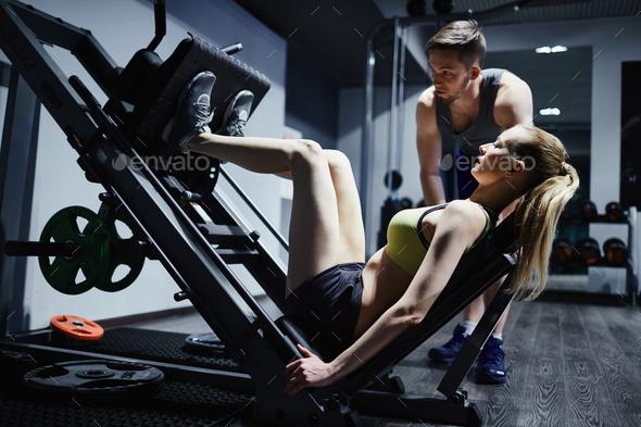 Training on sports equipment - Stock Photo - Images