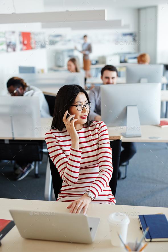 Calling secretary - Stock Photo - Images
