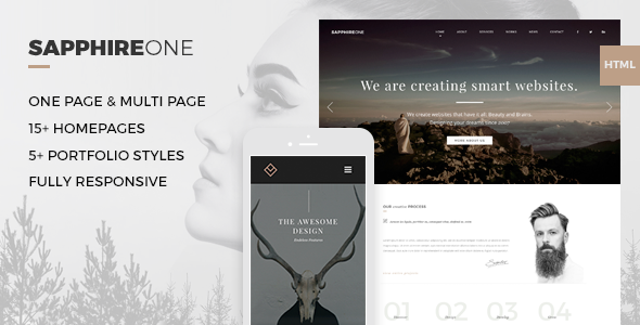 Sapphire One - Multi-purpose Bootstrap HTML5 - Creative Site Templates