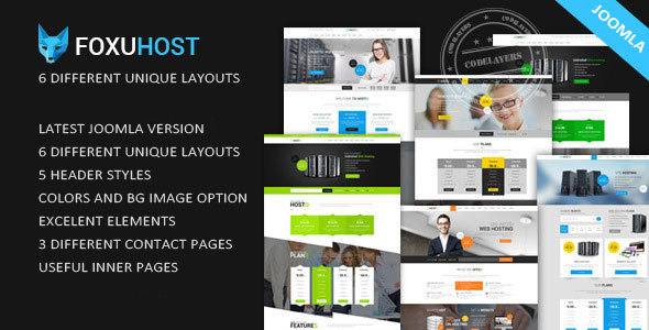 Foxuhost – Web Hosting, Corporate Joomla Template