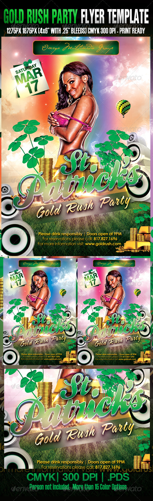 The Gold Rush Template - Clubs & Parties Events