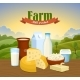 Milk Natural Farm Concept - GraphicRiver Item for Sale