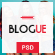 Blogue - Multi-Concept Personal Blog PSD Template - ThemeForest Item for Sale